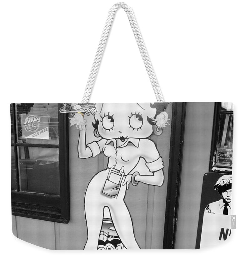 1930's Weekender Tote Bag featuring the photograph Betty Boop 3 by Frank Romeo