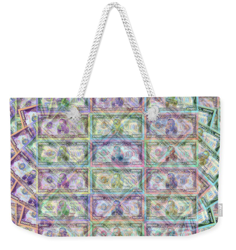 $100 Weekender Tote Bag featuring the painting 1 Billion Dollars by Tony Rubino