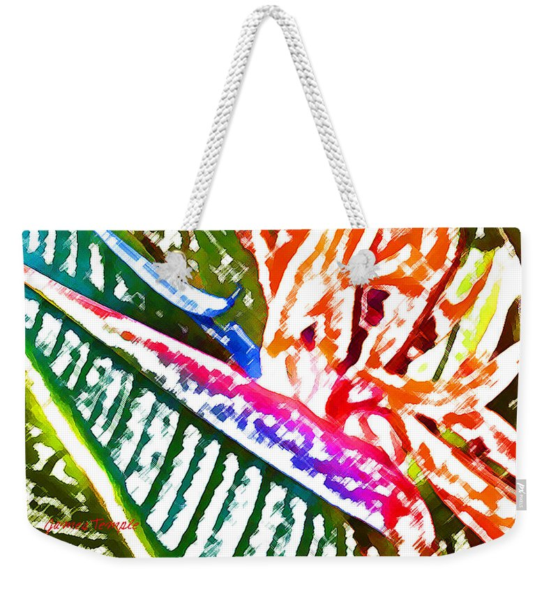 Bird Of Paradise Weekender Tote Bag featuring the digital art Bird of Paradise Painted by James Temple