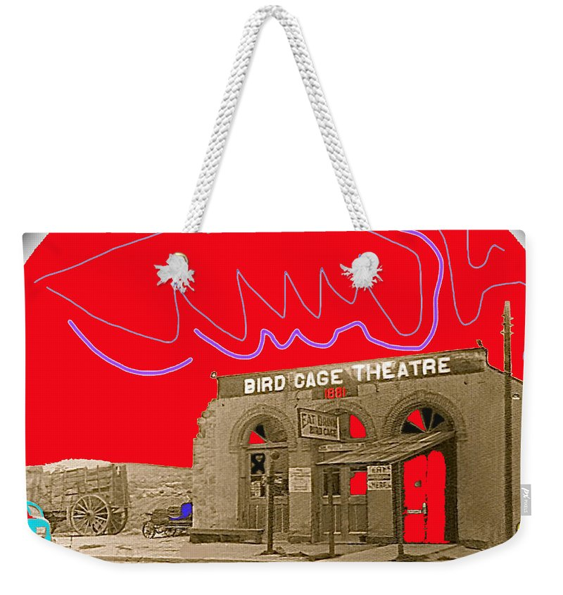 Birdcage Theater Number 2 Tombstone Arizona C.1934 Weekender Tote Bag featuring the photograph Birdcage Theater Number 2 Tombstone Arizona C.1934-2009 by David Lee Guss
