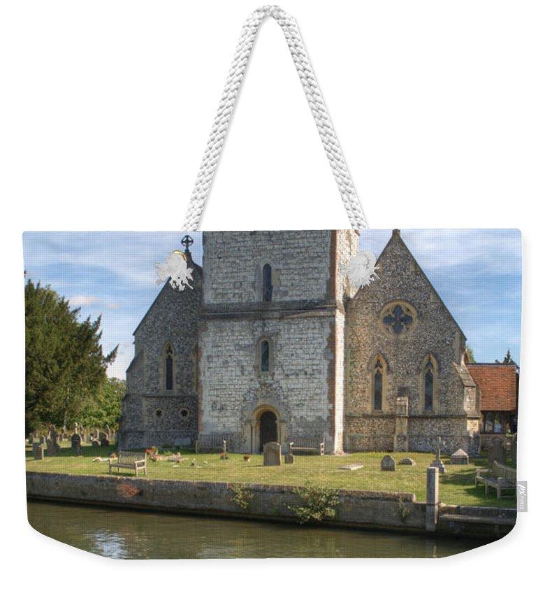 Bisham Church Weekender Tote Bag featuring the photograph Bisham Church by Chris Day
