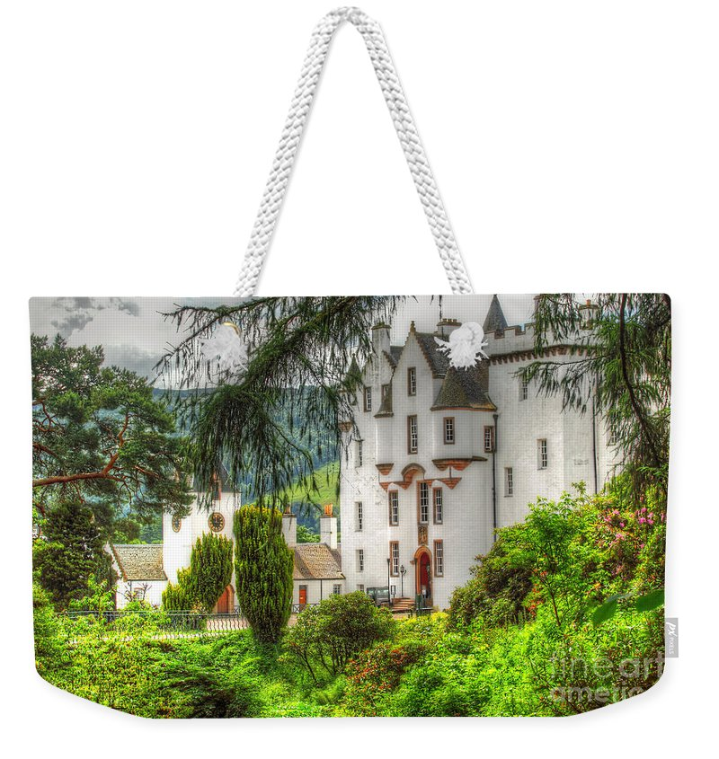 Castle Weekender Tote Bag featuring the photograph Blair Castle by Traci Law
