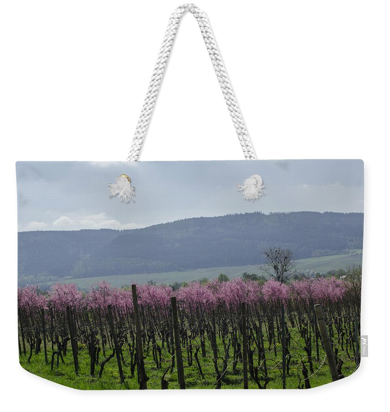 Almond Weekender Tote Bag featuring the photograph Blooming Trees by TouTouke A Y