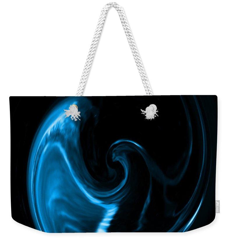 Blue Weekender Tote Bag featuring the photograph Blue Bird by Mechala Matthews