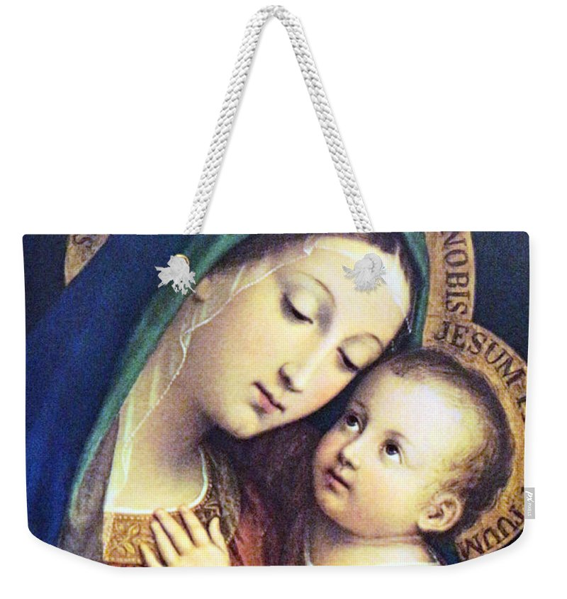 Jesus Weekender Tote Bag featuring the photograph Blue Dress by Munir Alawi
