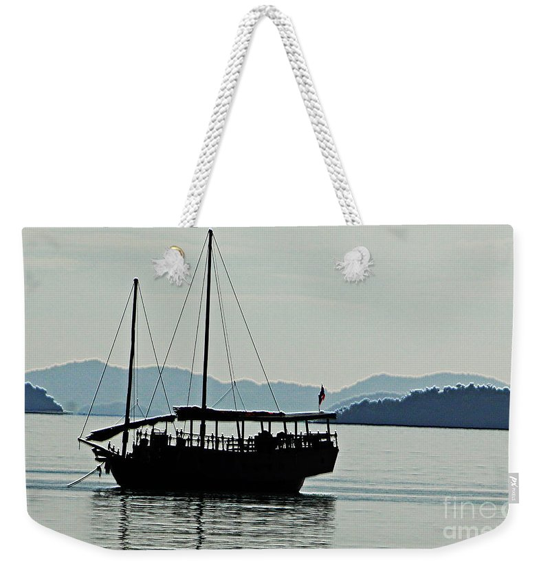 Boat Weekender Tote Bag featuring the photograph Boat by Ben Yassa