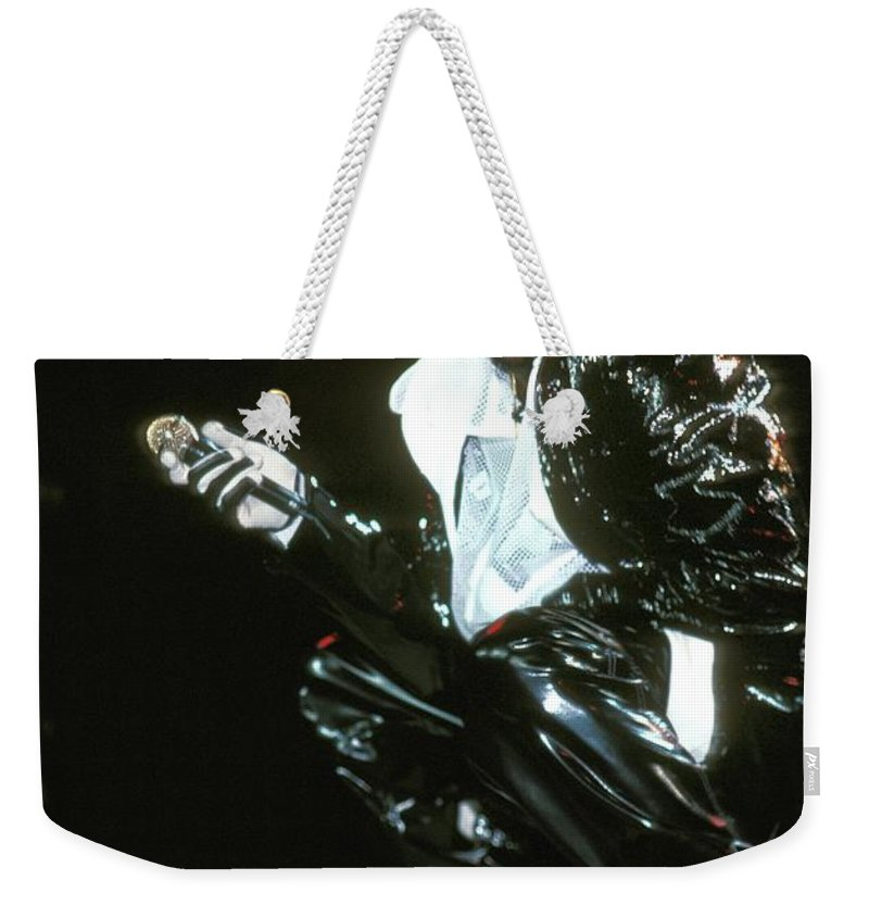 Performance Weekender Tote Bag featuring the photograph Bobby Brown by Concert Photos