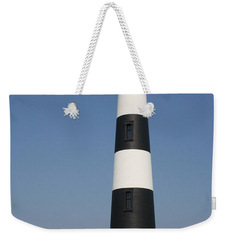 Lighthouse Weekender Tote Bag featuring the photograph Bodie Island Lighthouse by Christiane Schulze Art And Photography