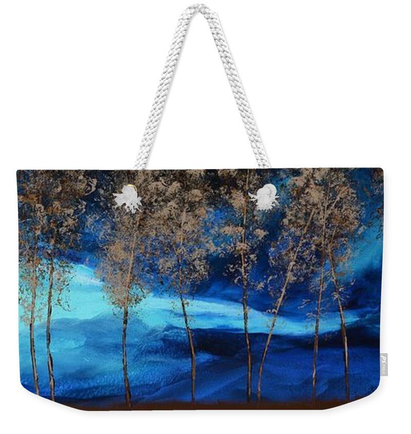 Storm Weekender Tote Bag featuring the painting Brewing Storm by Linda Bailey