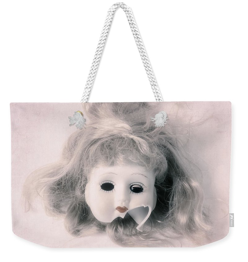 Doll Weekender Tote Bag featuring the photograph Broken Head by Joana Kruse
