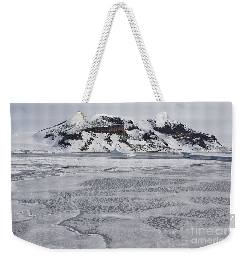 Pack Ice Weekender Tote Bag featuring the photograph Brown Bluff, Antarctica by John Shaw