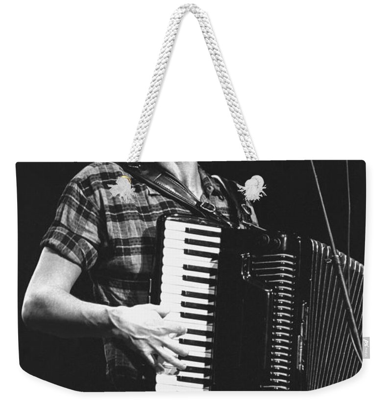 Singer Weekender Tote Bag featuring the photograph Bruce Hornsby by Concert Photos