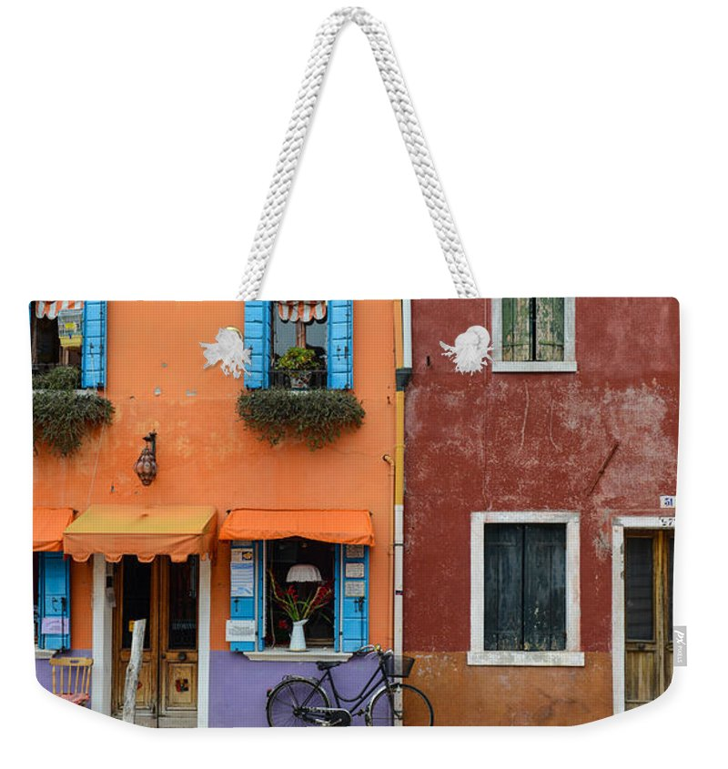 Ancient Weekender Tote Bag featuring the photograph Burano Italy by Brandon Bourdages