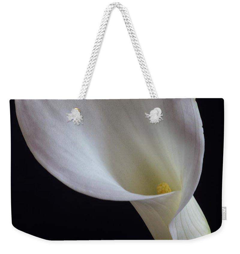 Calla Weekender Tote Bag featuring the photograph Calla Lily by David Pringle