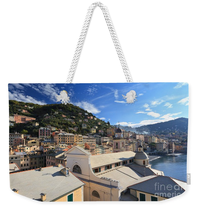 Ancient Weekender Tote Bag featuring the photograph Camogli. Italy by Antonio Scarpi