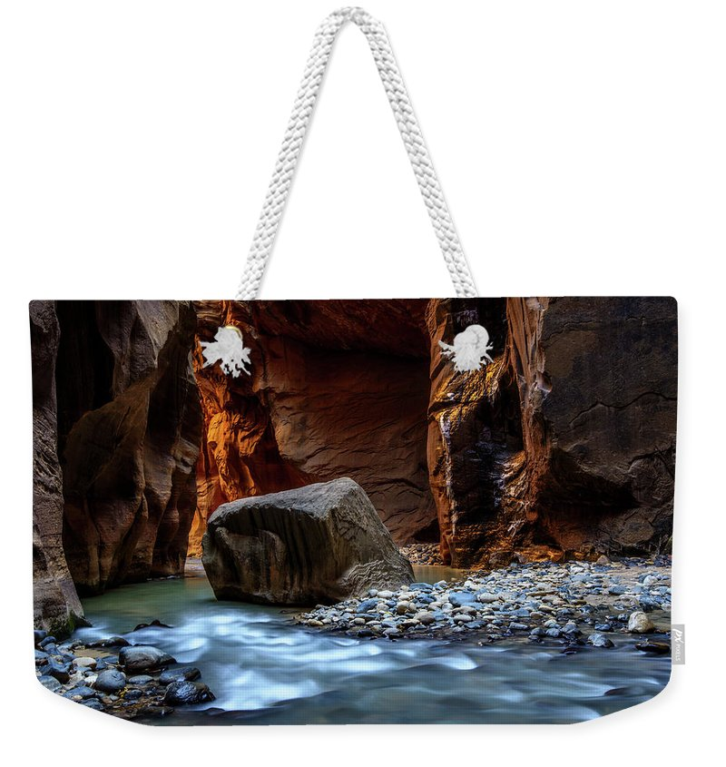 Scenics Weekender Tote Bag featuring the photograph Canyon by Piriya Photography