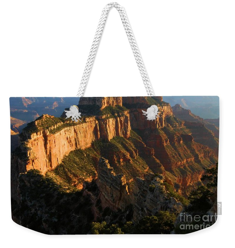 Grand Canyon Weekender Tote Bag featuring the photograph Cape Royal Glow by Adam Jewell