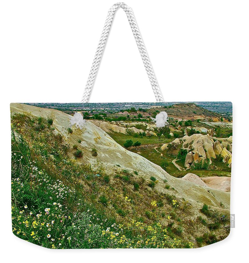 Cappadocia Landscape Weekender Tote Bag featuring the photograph Cappadocia Landscape-turkey by Ruth Hager
