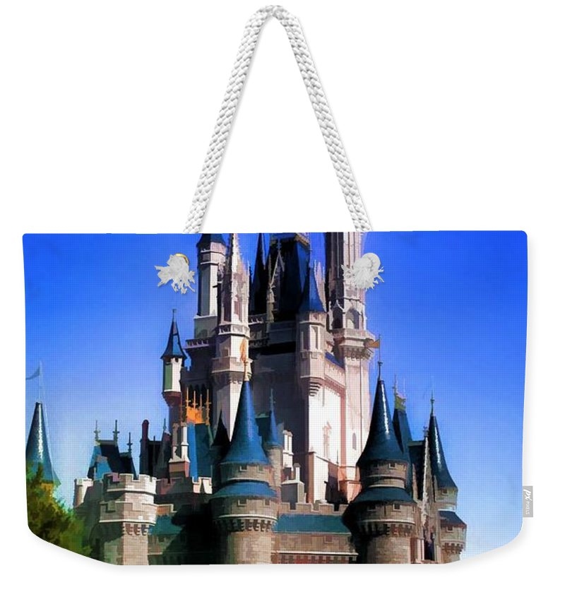 Disneyworld Weekender Tote Bag featuring the photograph Castle by Joyce Baldassarre