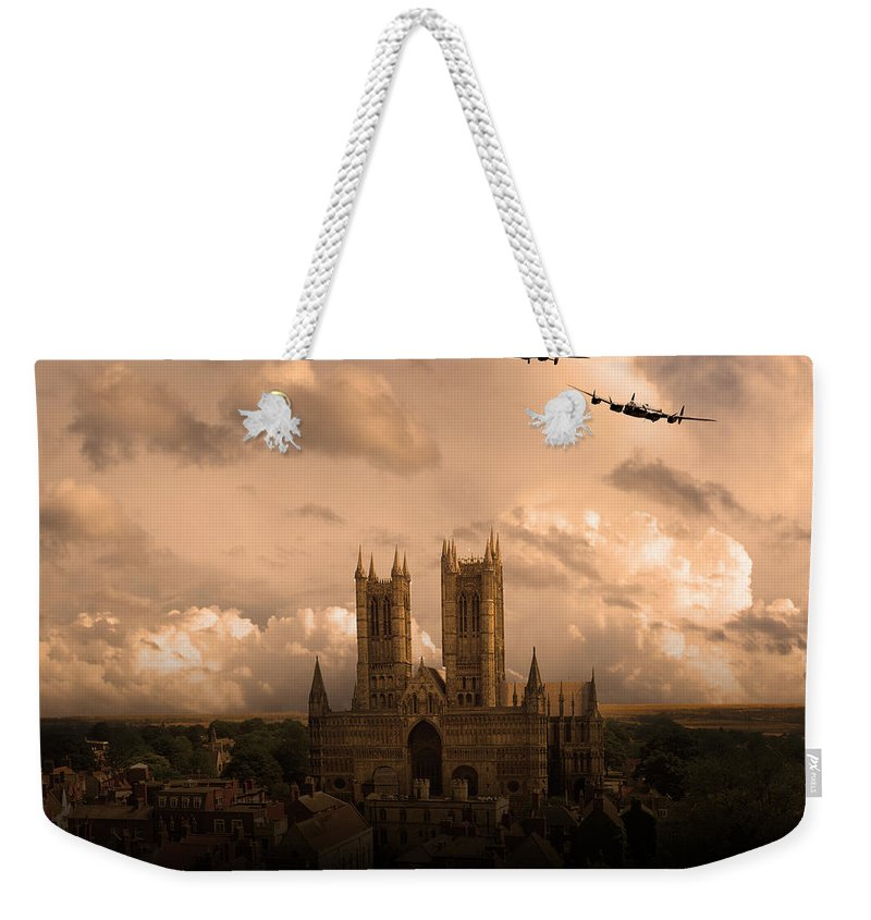 Avro Weekender Tote Bag featuring the digital art Cathedral Pass by Airpower Art