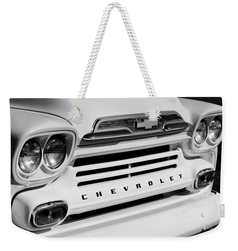 Chevrolet Apache 31 Fleetline Pickup Truck Weekender Tote Bag featuring the photograph Chevrolet Apache 31 Fleetline Pickup Truck by Jill Reger