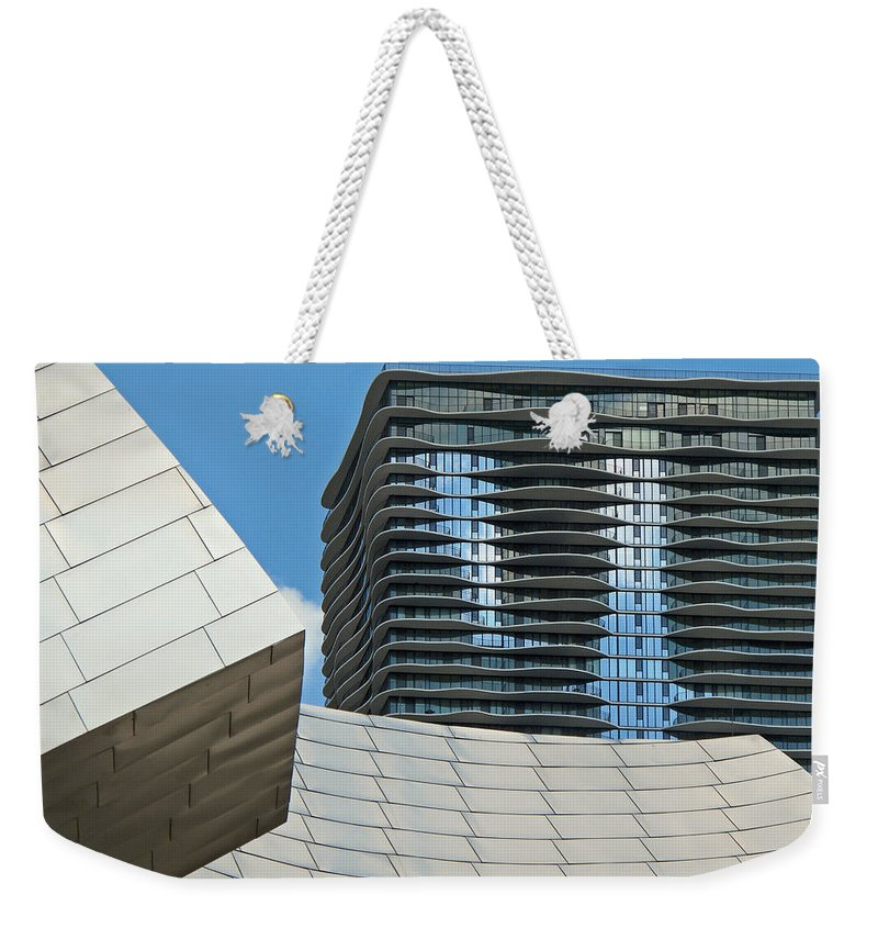 Chicago Weekender Tote Bag featuring the photograph Chicago Architecture by Dave Mills