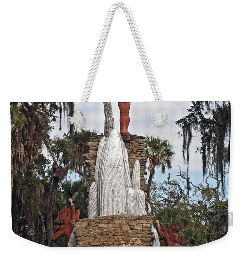 America Weekender Tote Bag featuring the photograph Chief Tomokie by Howard Stapleton