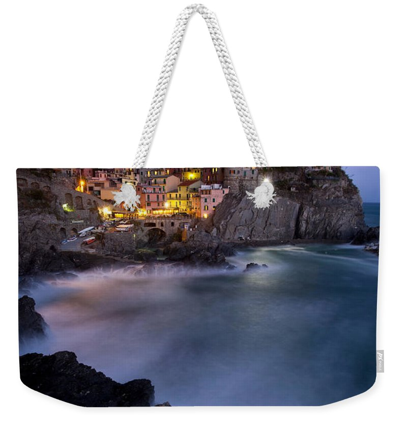 Manarola Weekender Tote Bag featuring the photograph Cinque Terre by Brian Jannsen