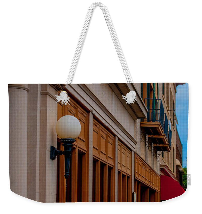 Architecture Weekender Tote Bag featuring the photograph City Street by Jon Cody