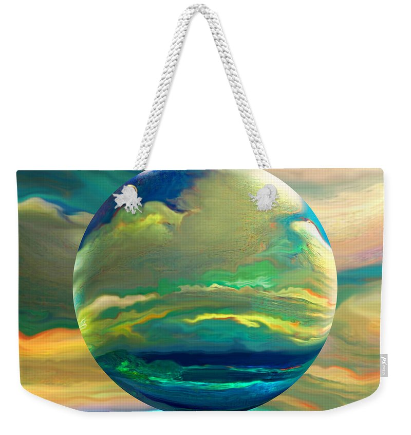 Dreamscape Weekender Tote Bag featuring the digital art Clouding the Poets Eye by Robin Moline