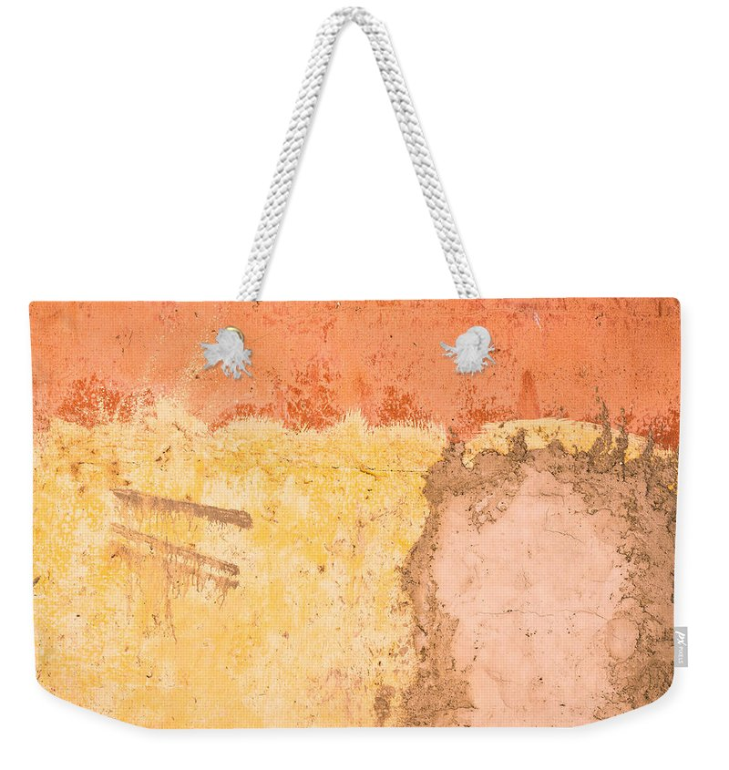 Abstract Weekender Tote Bag featuring the photograph Colorful Wall by Tom Gowanlock