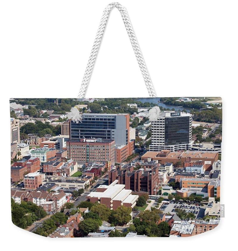 Aerial Weekender Tote Bag featuring the photograph Compton Village by Bill Cobb