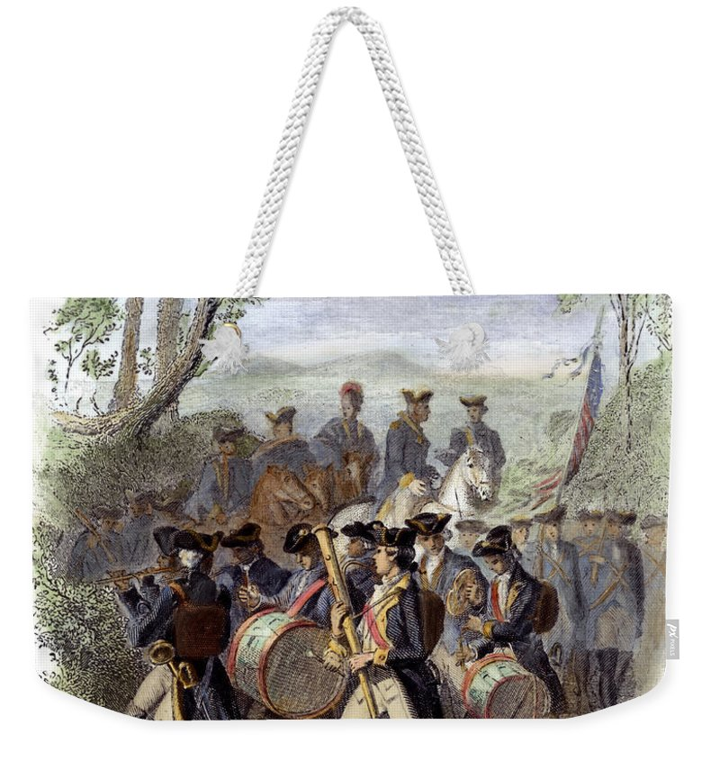 1780s Weekender Tote Bag featuring the photograph Continental Army Band by Granger