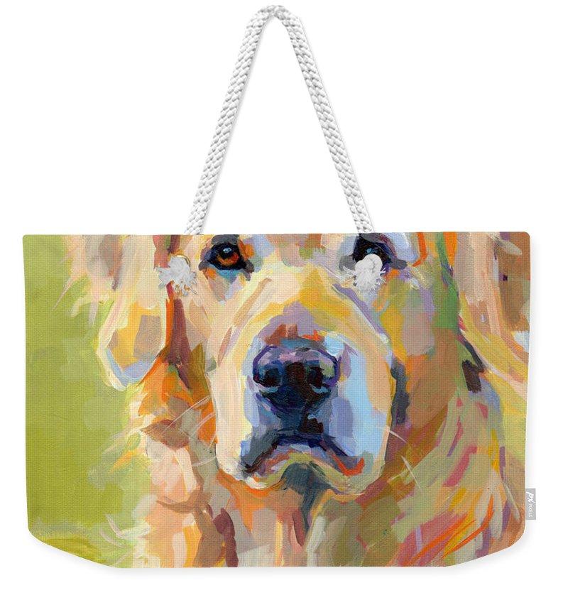 Golden Retriever Weekender Tote Bags