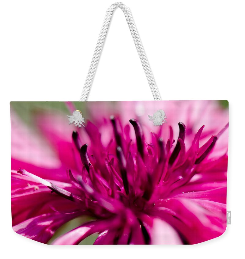 Corny Flower Weekender Tote Bag featuring the photograph Corny Flower by Steffen Gierok