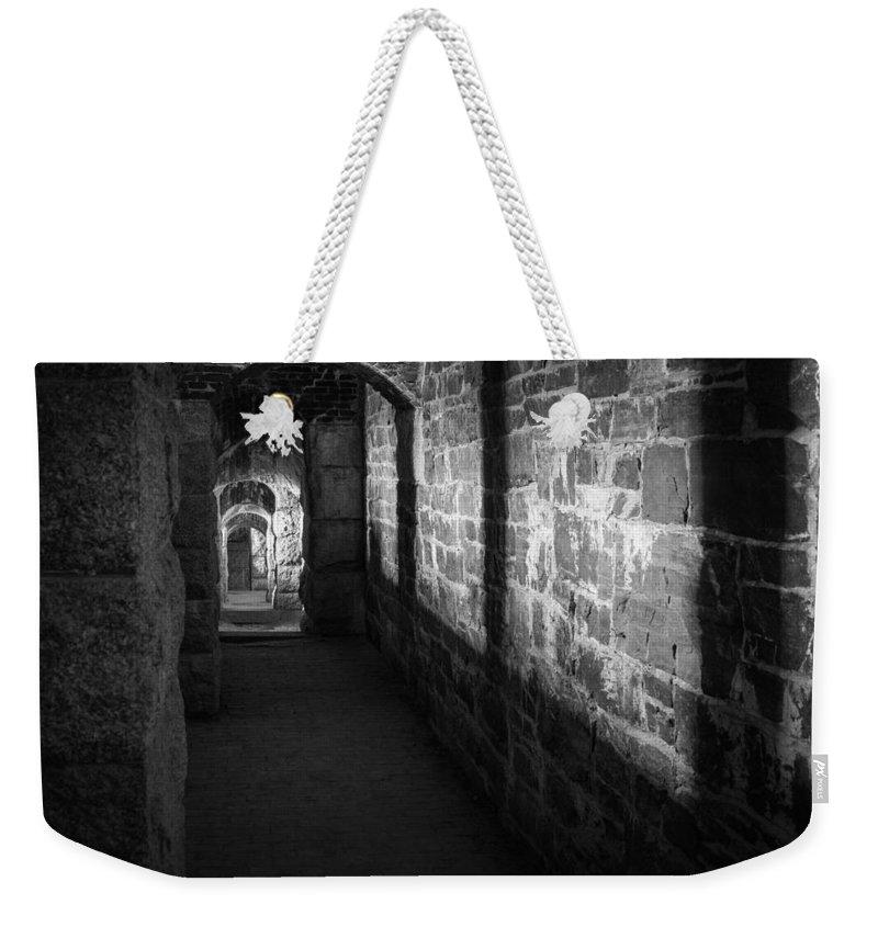 Bucksport Weekender Tote Bag featuring the photograph Corridor by Kristopher Schoenleber