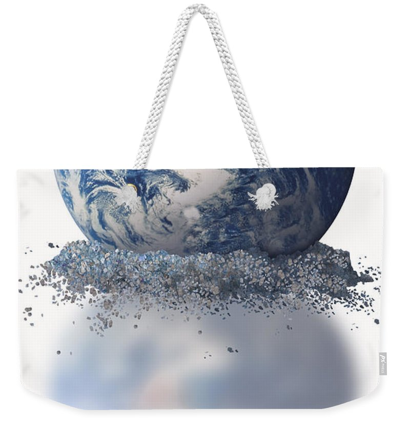 Science Weekender Tote Bag featuring the photograph Crumbling Earth by Gwen Shockey