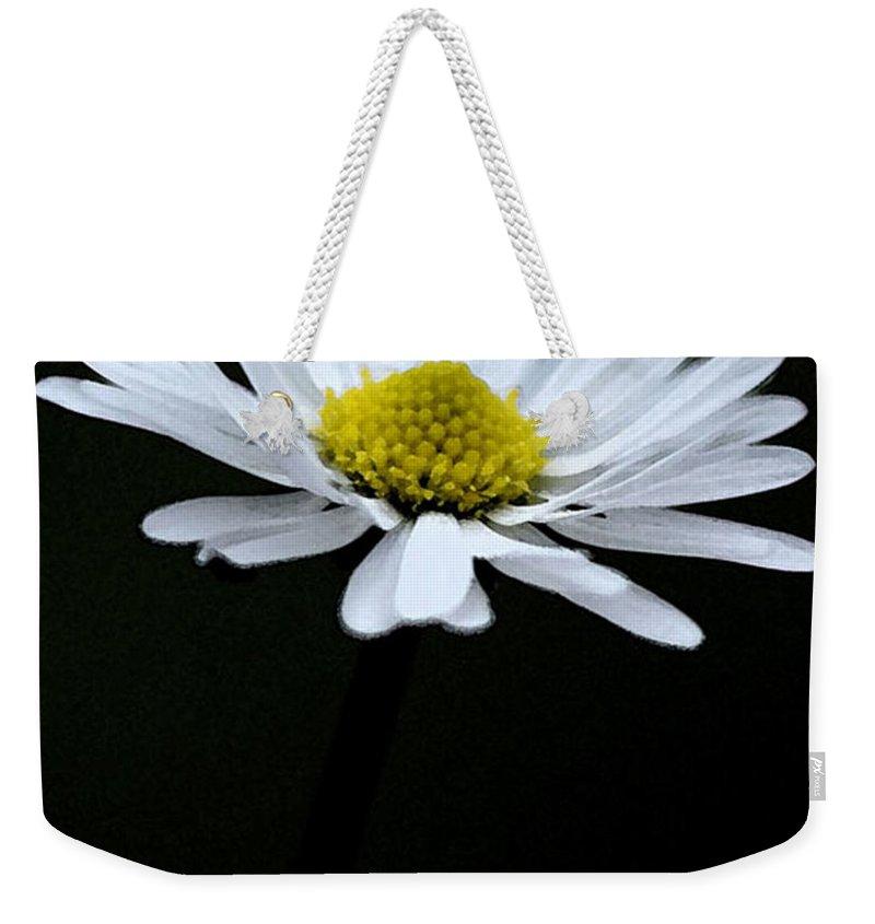 Daisy Weekender Tote Bag featuring the digital art Daisy 1 by Carol Lynch