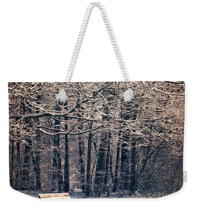 Winter Weekender Tote Bag featuring the photograph December by Delphimages Photo Creations