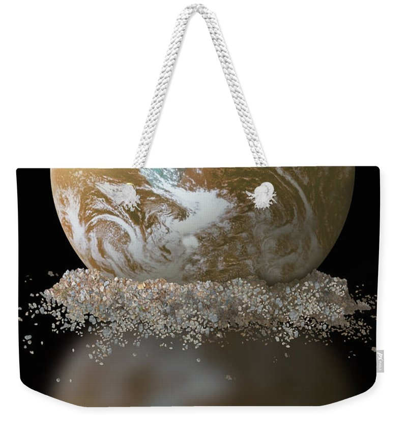 Earth Weekender Tote Bag featuring the photograph Dissolving Earth by Gwen Shockey/NASA