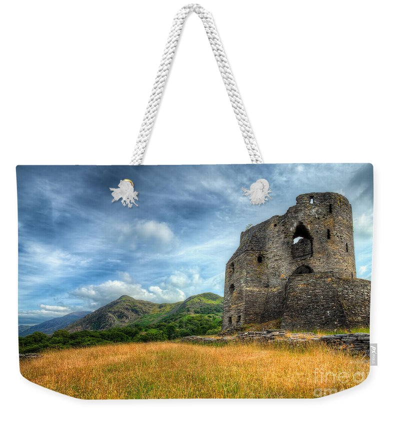 Architecture Weekender Tote Bag featuring the photograph Dolbadarn Castle by Adrian Evans