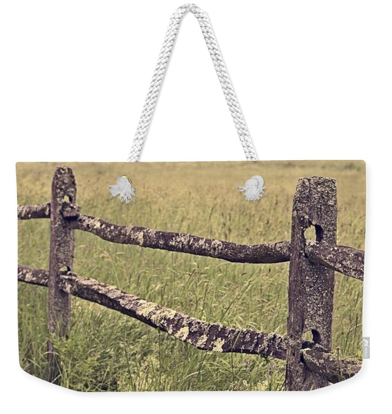 Fence Weekender Tote Bag featuring the photograph Down On The Farm by Edward Fielding