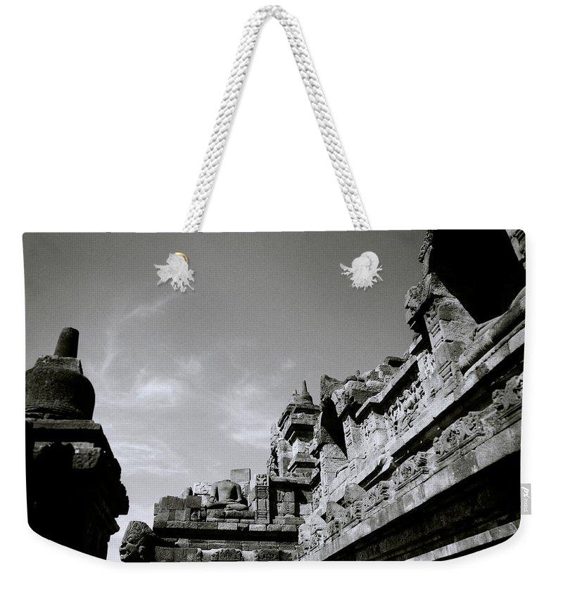 Borobudur Weekender Tote Bag featuring the photograph Dramatic Borobudur by Shaun Higson