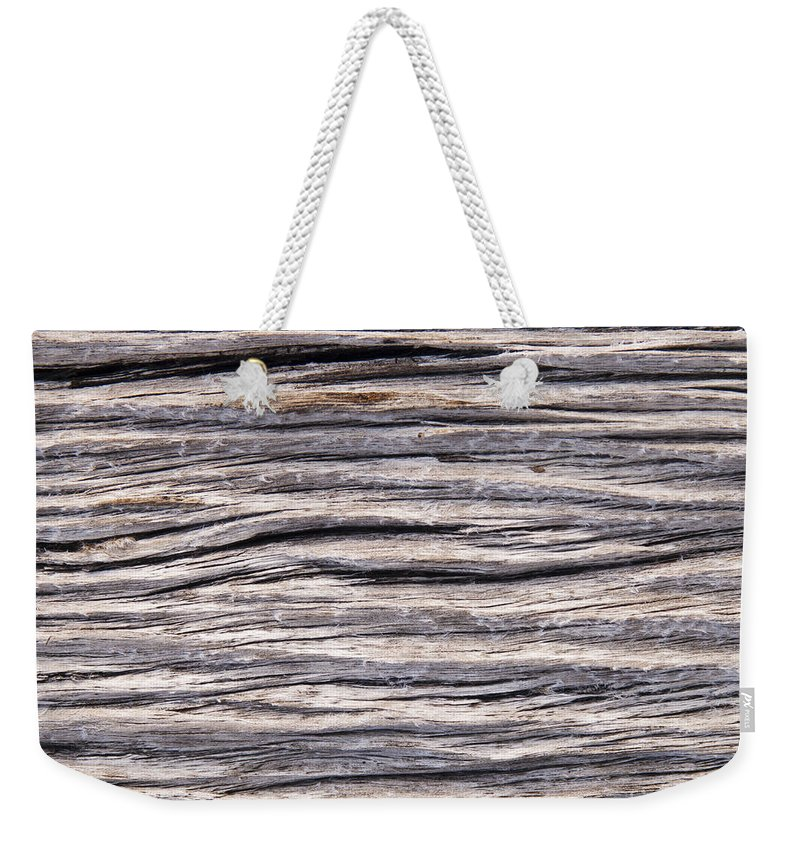 Abstract Weekender Tote Bag featuring the photograph Drift Wood by Tim Hester