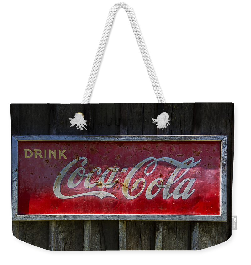Coke Weekender Tote Bag featuring the photograph Drink Coca Cola by Garry Gay