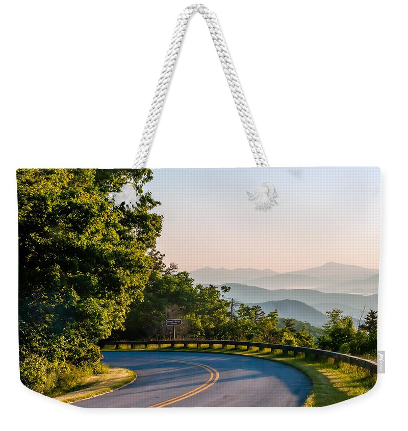 America Weekender Tote Bag featuring the photograph Early Morning Sunrise Over Blue Ridge Mountains by Alex Grichenko