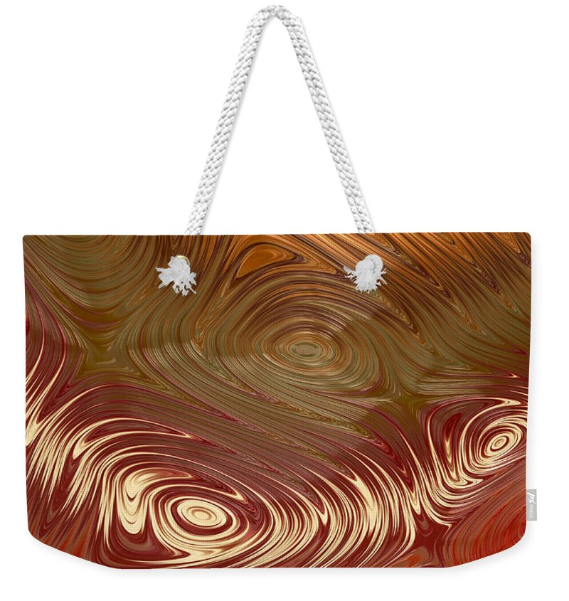 Fractal Weekender Tote Bag featuring the digital art Earth Tones by Heidi Smith