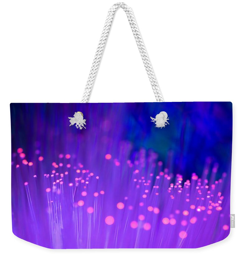 Abstract Weekender Tote Bag featuring the photograph Electric Ladyland by Dazzle Zazz