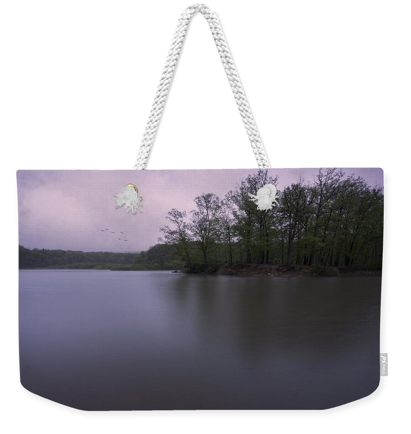 Hinckley Lake Weekender Tote Bag featuring the photograph Emerging Light by Dale Kincaid