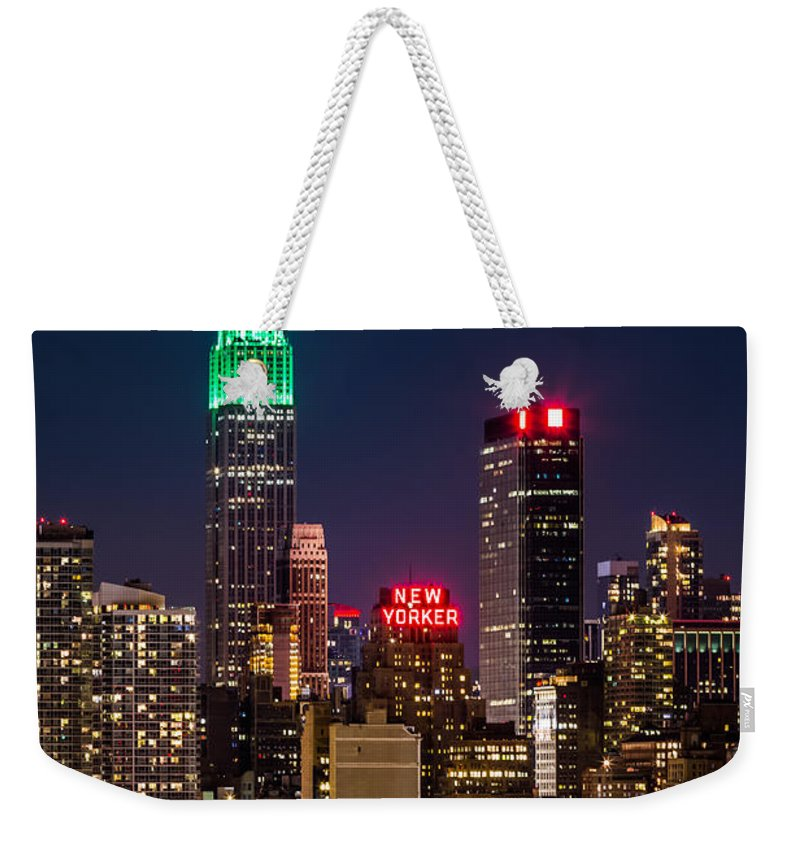 Ireland Weekender Tote Bag featuring the photograph Empire State Building On Saint Patrick's Day 1 by Mihai Andritoiu